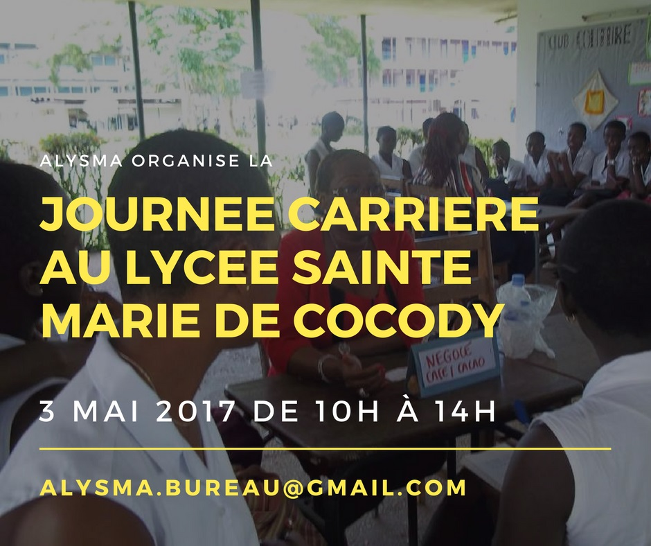 Journée Carrière Alysma 2017 le 3 Mai au Lycée Sainte Marie